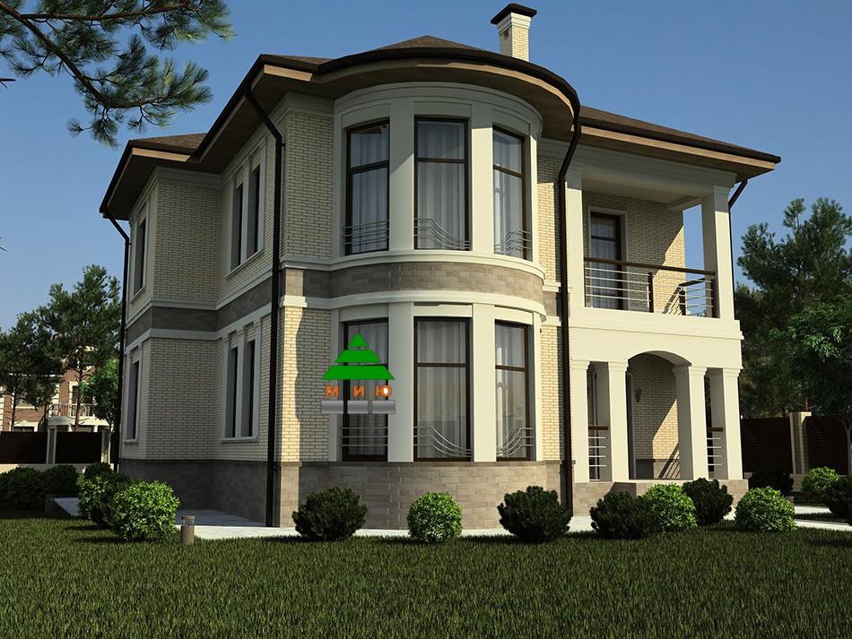 рекомендуем балконные проекты домов коттеджей с фасадом эркер фото там было